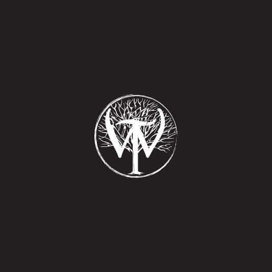 Wilderness Trail Distillery logo badge in white on black background