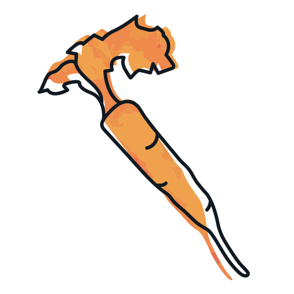 illustrated icon of orange carrot