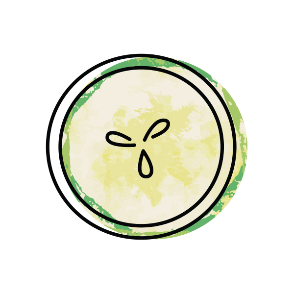 illustrated icon of cucumber slice