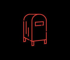 icon of standing mailbox