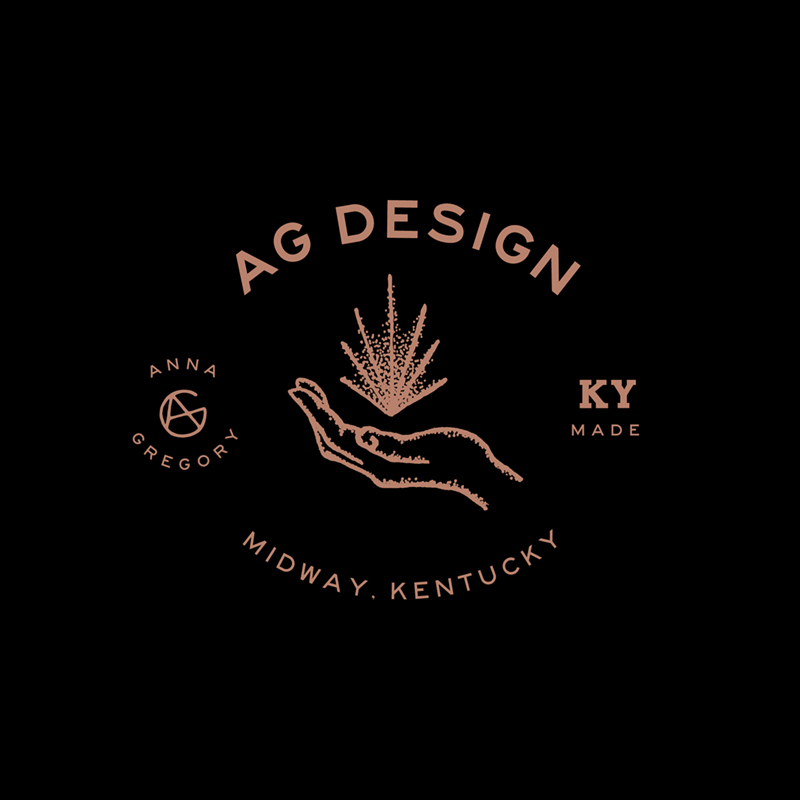 AG design logo on black