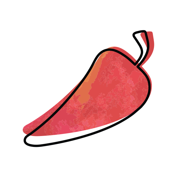 illustrated icon of red hot pepper