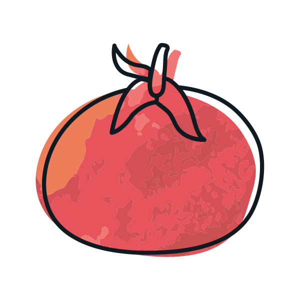 illustrated icon of red tomato