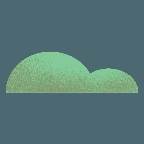 woodland icon of grassy hills